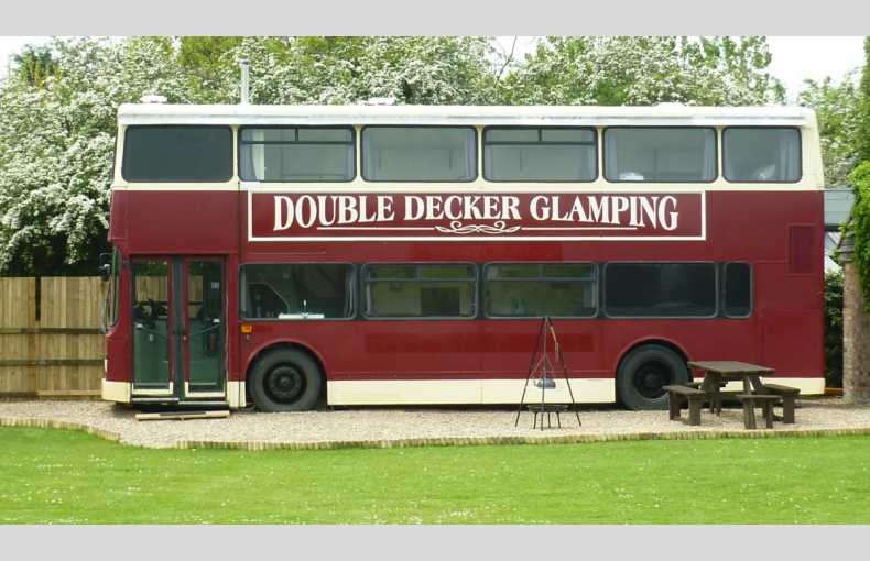 Double Decker at Wood Farm Glamping Converted Bus in