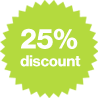 Save 25% when you book within 2 weeks of arrival.