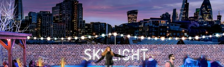 Neon-Lit Rooftop Ice Skating is now a thing in London!
