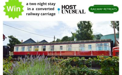 WIN a 2 night stay in a converted railway carriage