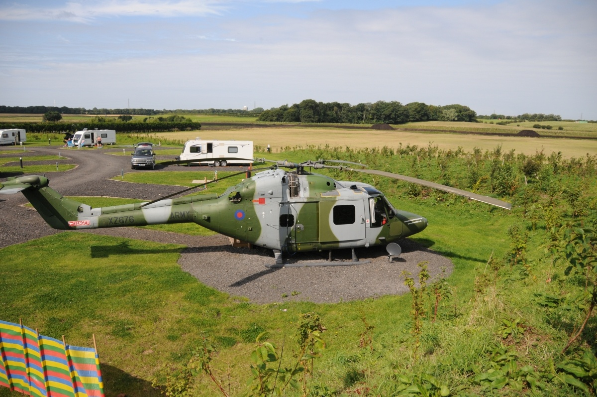 Unique Glamping In A Lynx Helicopter At Ream Hills Near Blackpool